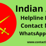 indian army helpline contact phone number