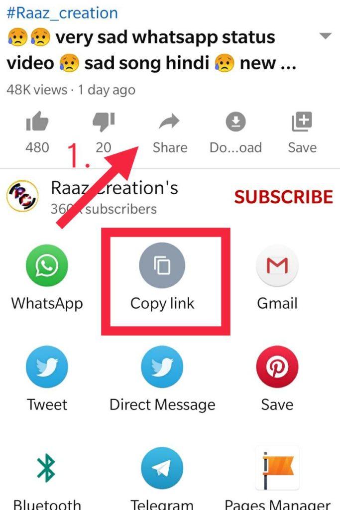 youtube video status