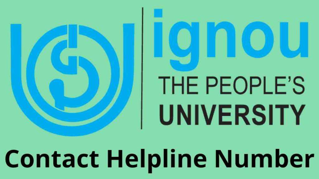 ignou helpline phone number