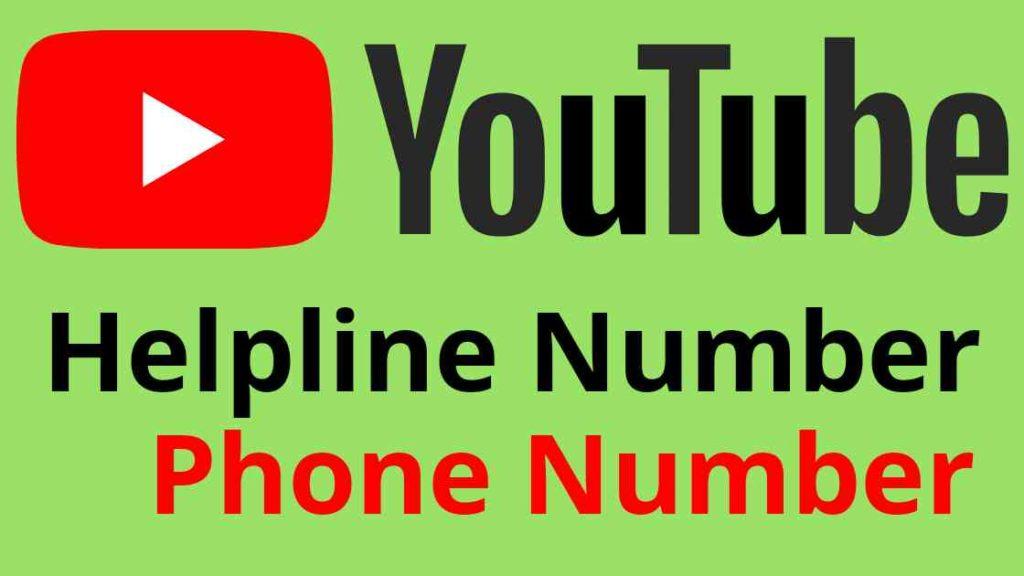 YouTube India Helpline Phone Number