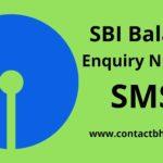 sbi balance check