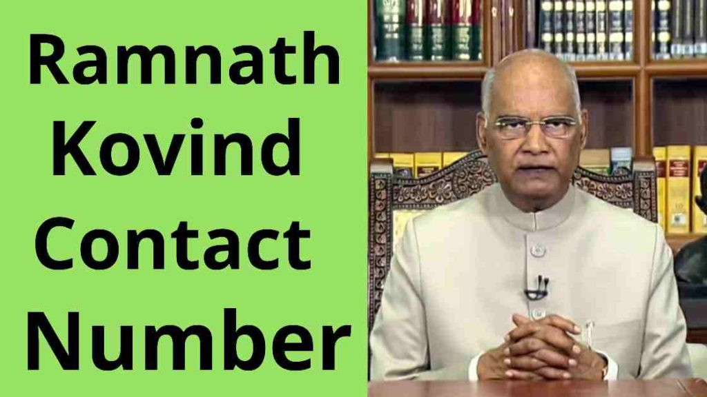 ramnath kovind phone whatsapp number