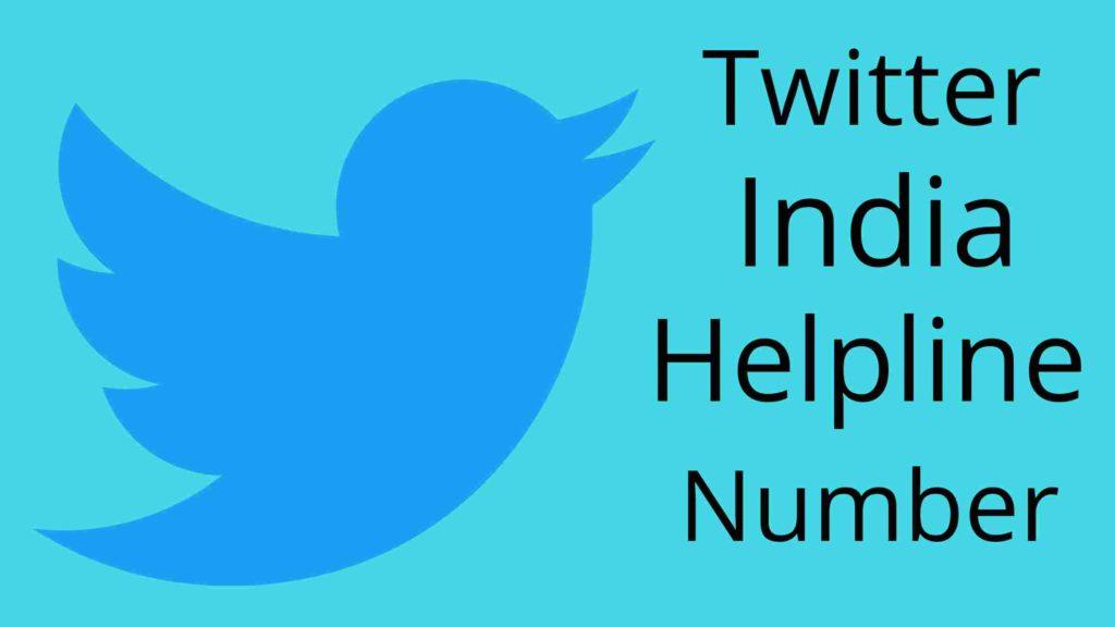 twitter india contact helpline number