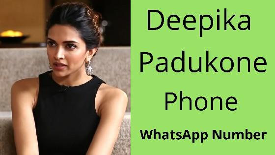 Deepika Padukone WhatsApp Phone Number - दीपिका पादुकोण