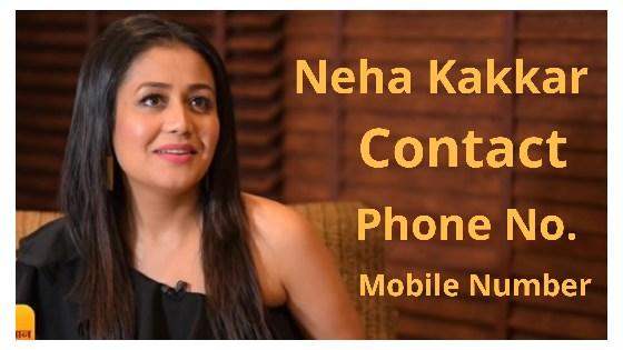 Neha Kakkar Contact Phone Number