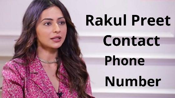 rakul preet contact phone number