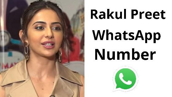 rakulpreet whatsapp number