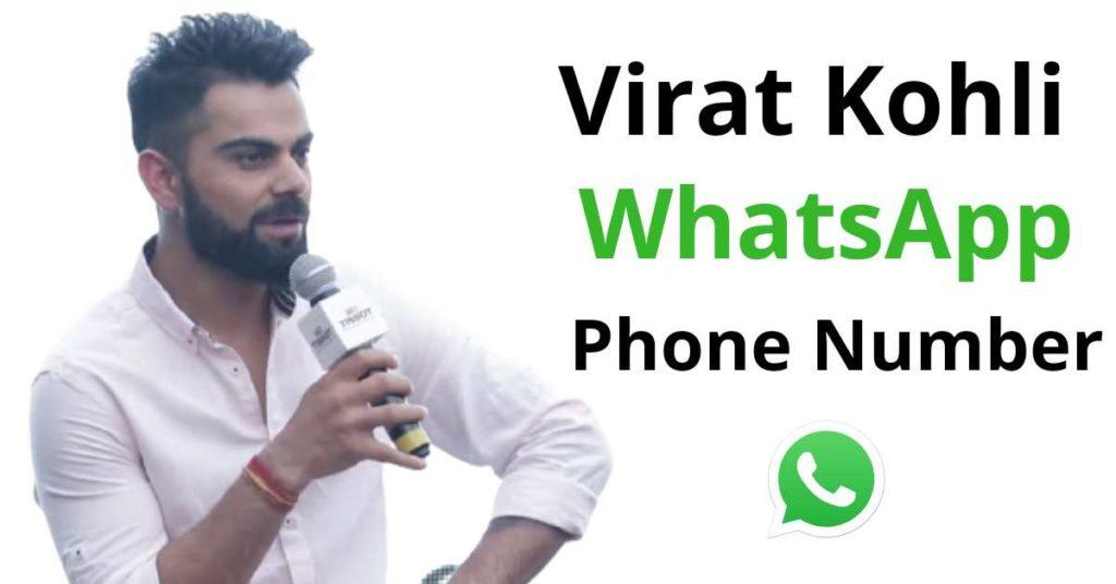 virat kohli whatsapp number
