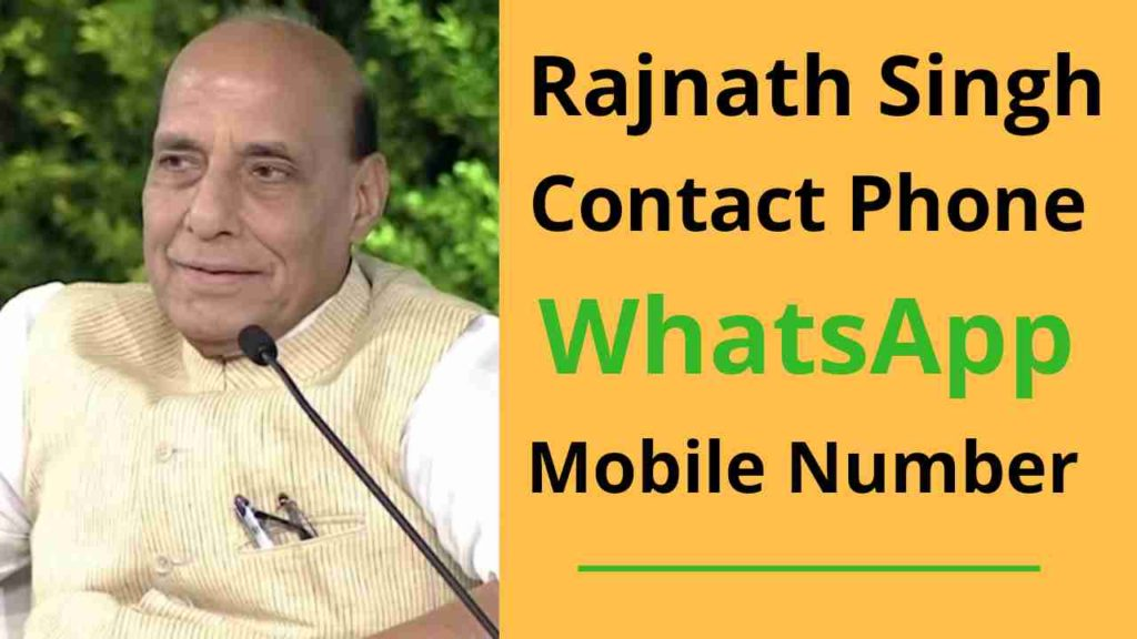 rajnath singh mobile phone number - whatsapp