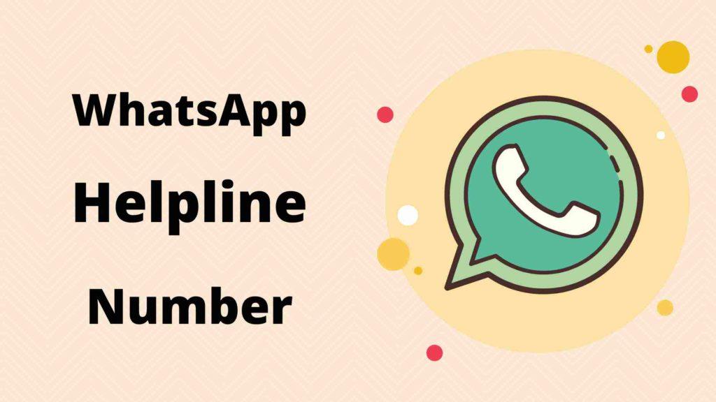 WhatsApp India Helpline Number, customer care number